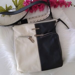 Steve Madden Black & White Crossbody Bag EUC